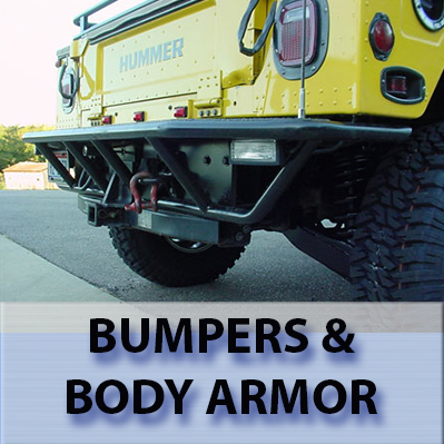 Hummer H1 Bumpers and Body Armor.