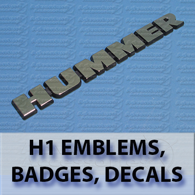 Hummer H1 AM General Emblems, Badges and Decals