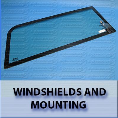 Hummer H1 AM General Windshields and Mounting